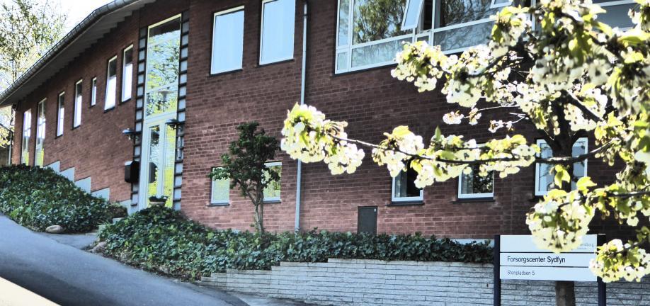 Billede af forsorgscentrets hovedbygning.